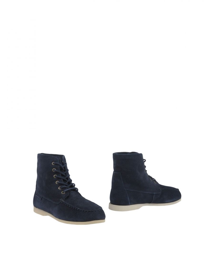 Image for Superga Dark Blue Leather Ankle Boots