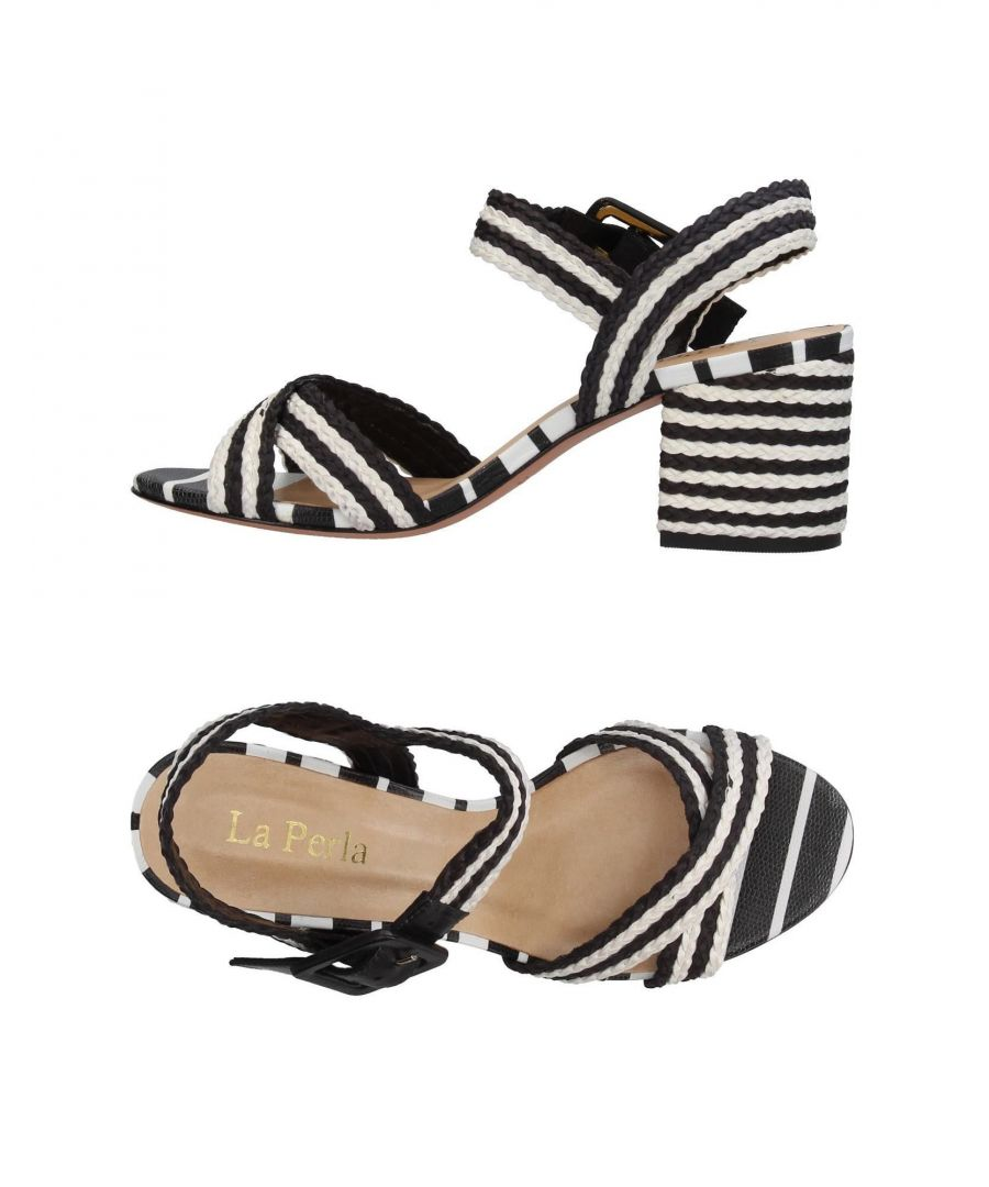 Image for La Perla Black Stripe Heeled Sandals