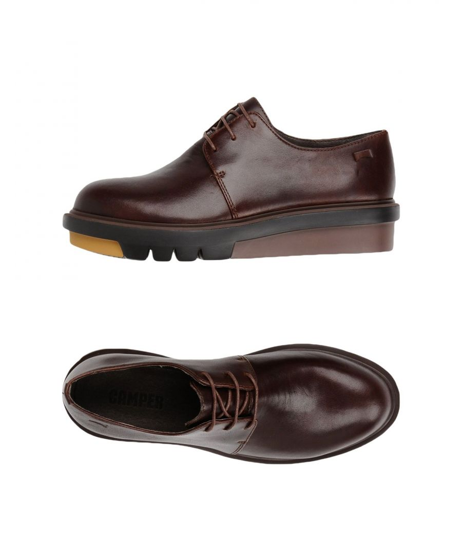 Image for Camper Dark Brown Leather Lace Up Shoes