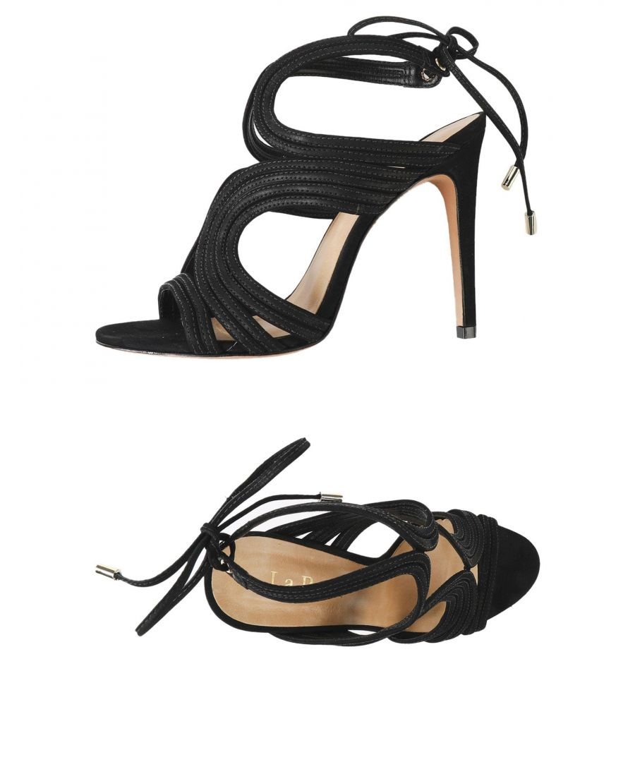 Image for La Perla Black Leather Heeled Sandals