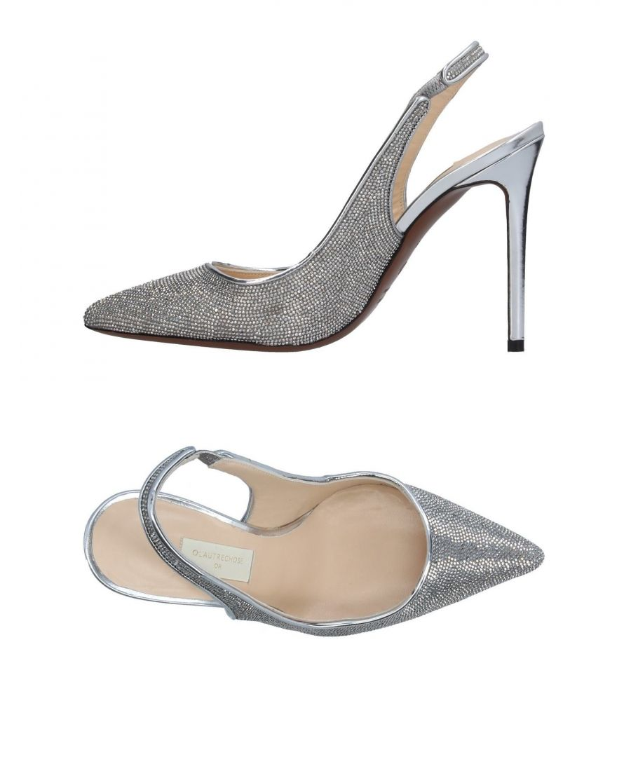Image for L' Autre Chose Silver Leather Slingback Heels