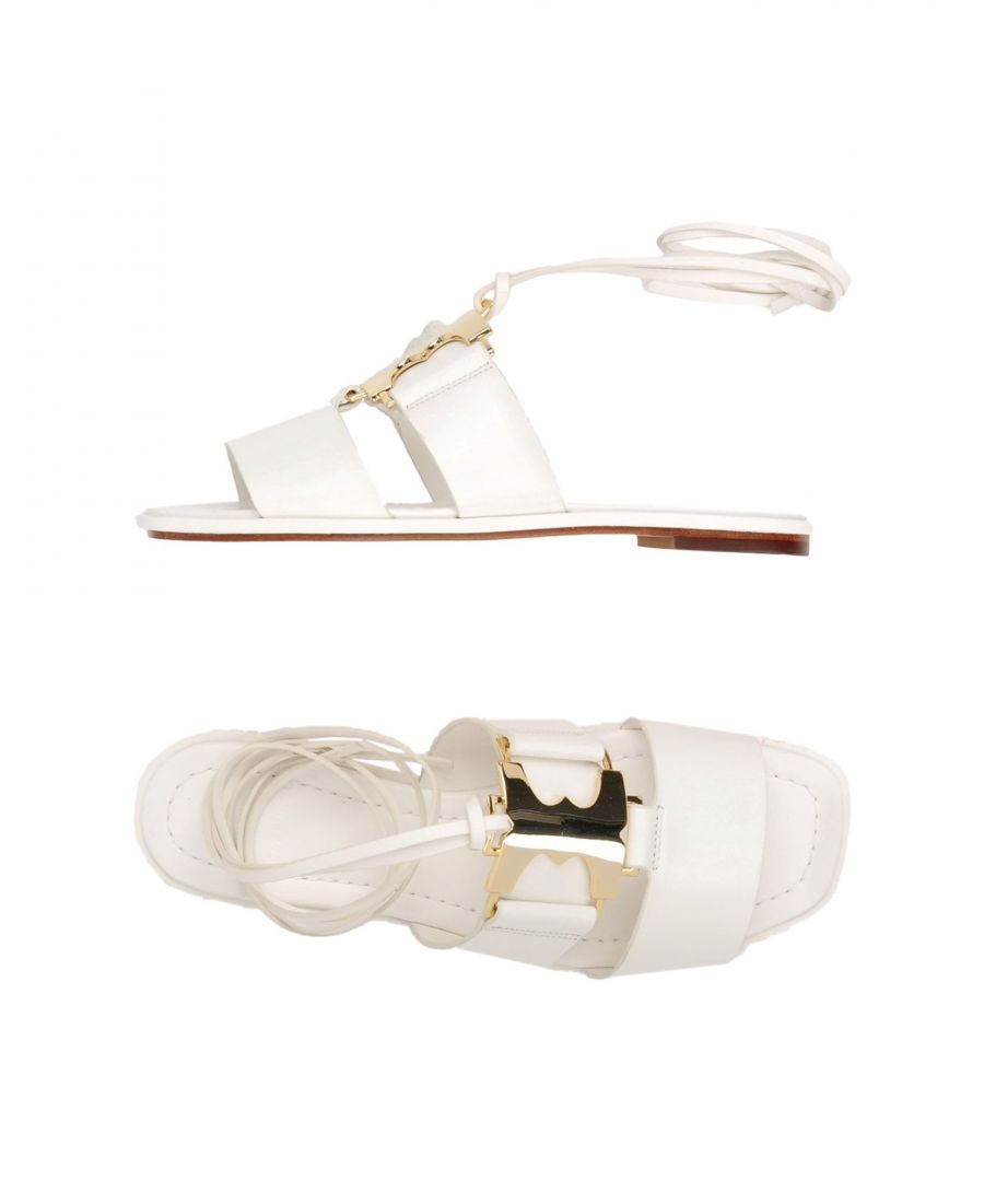 Image for Tory Burch White Leather Sandals