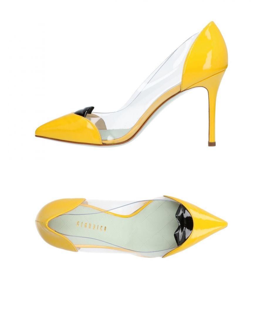 Image for Giannico Yellow Leather Heels