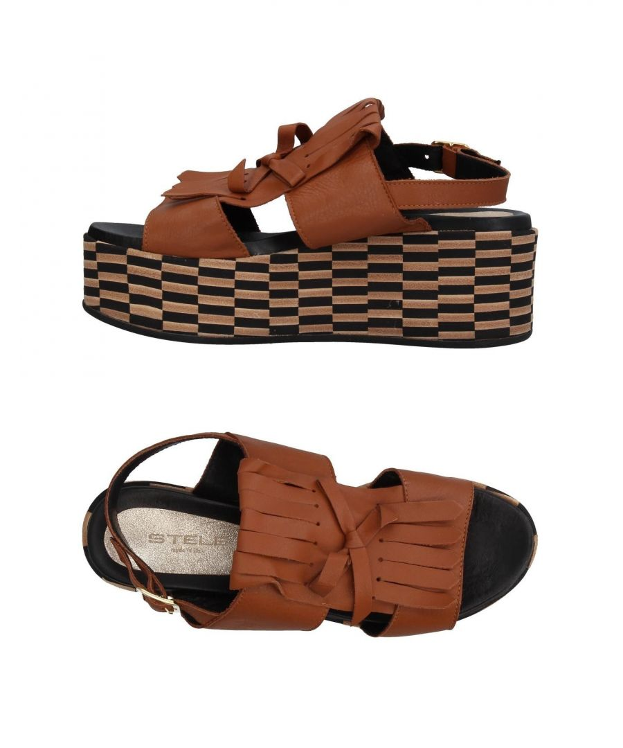 Image for Stele Tan Calf Platform Sandals