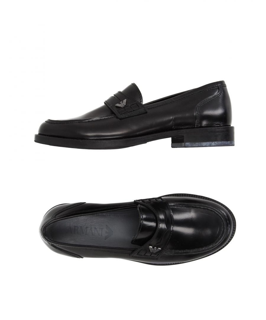 Image for FOOTWEAR Armani Junior Black Boy Leather