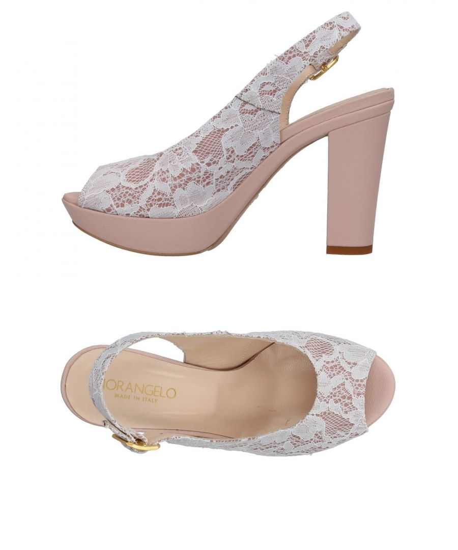 Image for Fiorangelo Light Pink Slingback Peeptoe Heels