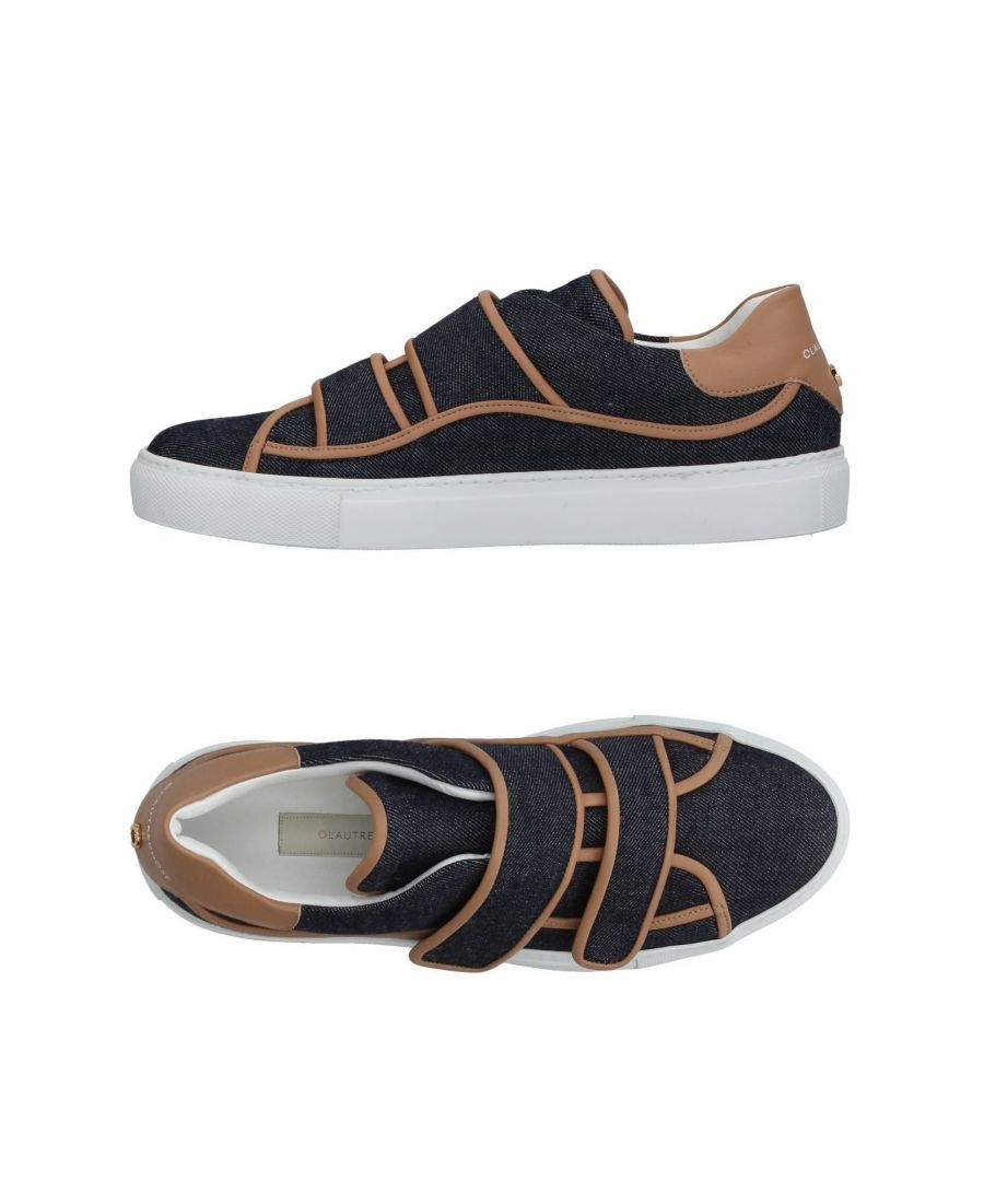 Image for L' Autre Chose Dark Blue Leather Sneakers