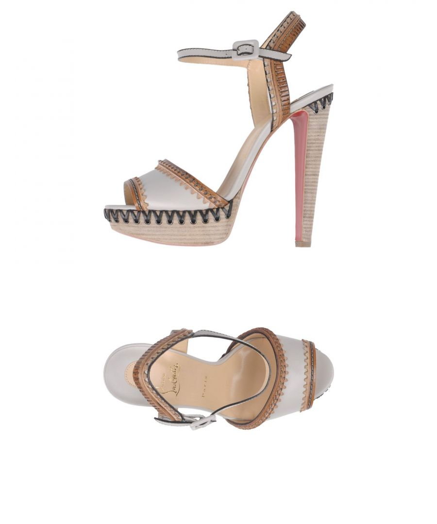 Image for Christian Louboutin Light Grey Leather Heeled Sandals