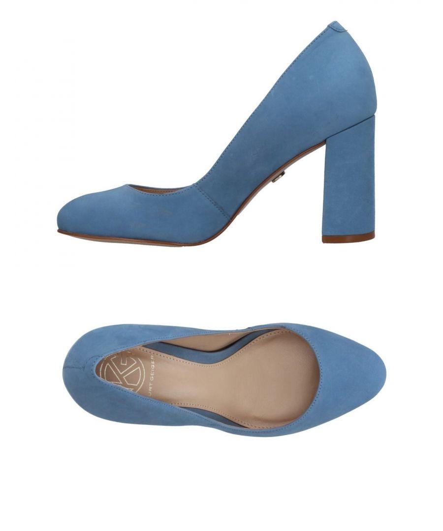 Image for Kg Kurt Geiger Pastel Blue Leather Heels