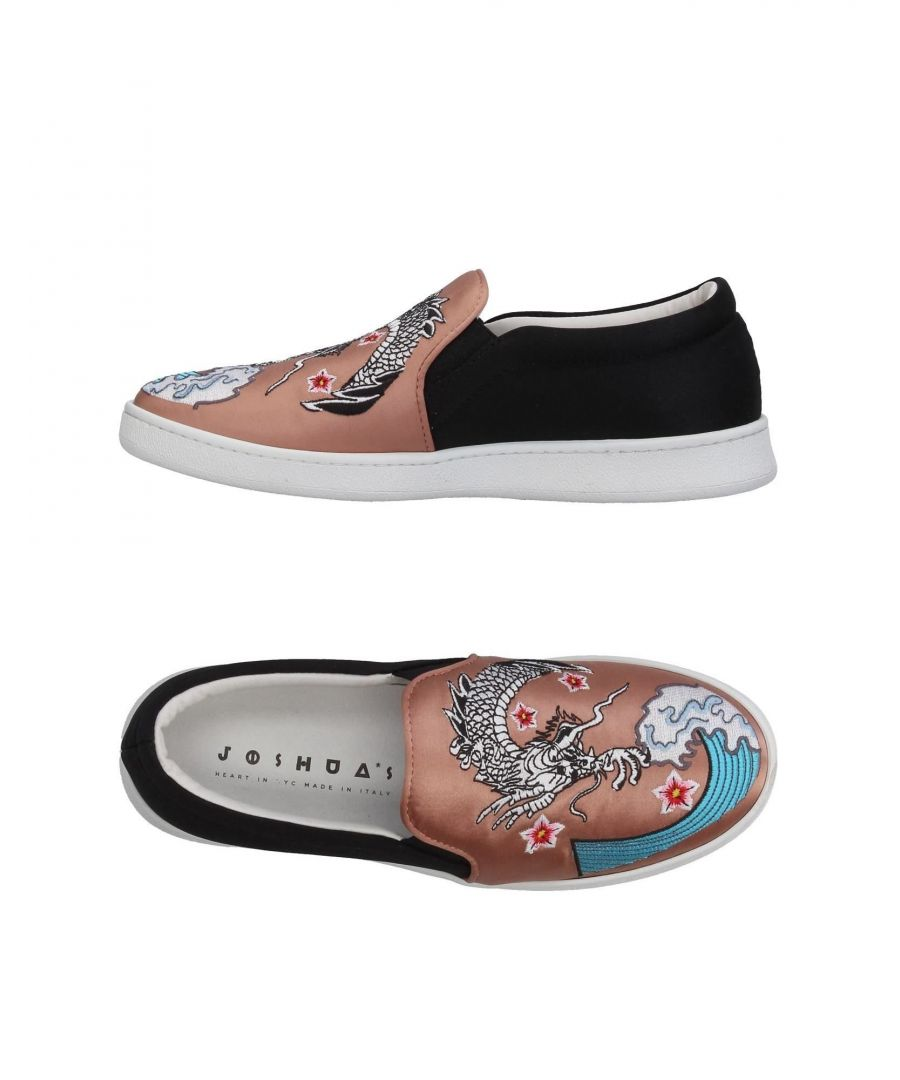 Image for Joshua*S Pastel Pink Satin Embroidered Slip Ons