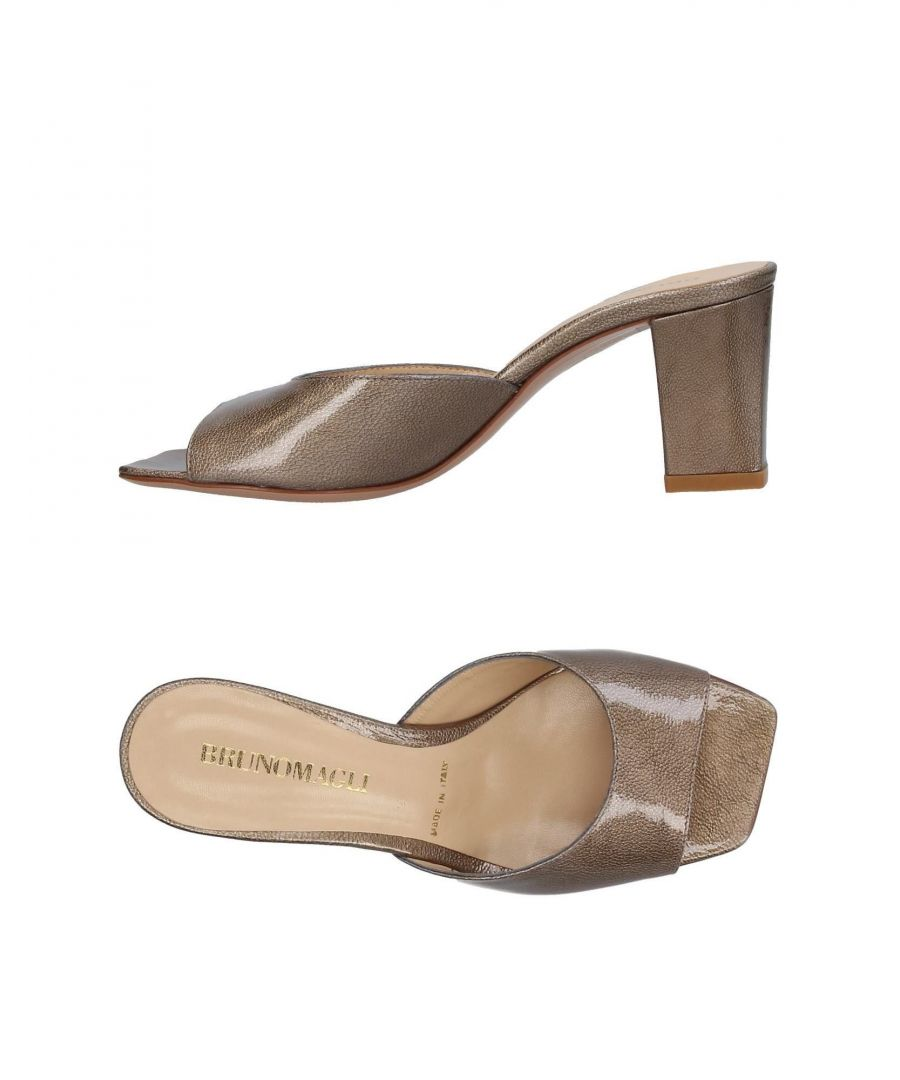 Image for Bruno Magli Bronze Leather Heeled Mules