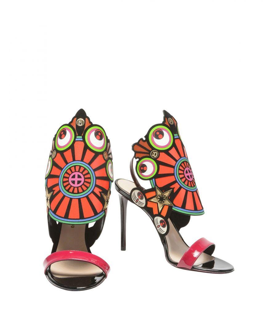 Image for Nicholas Kirkwood Black Leather Pattern Heels