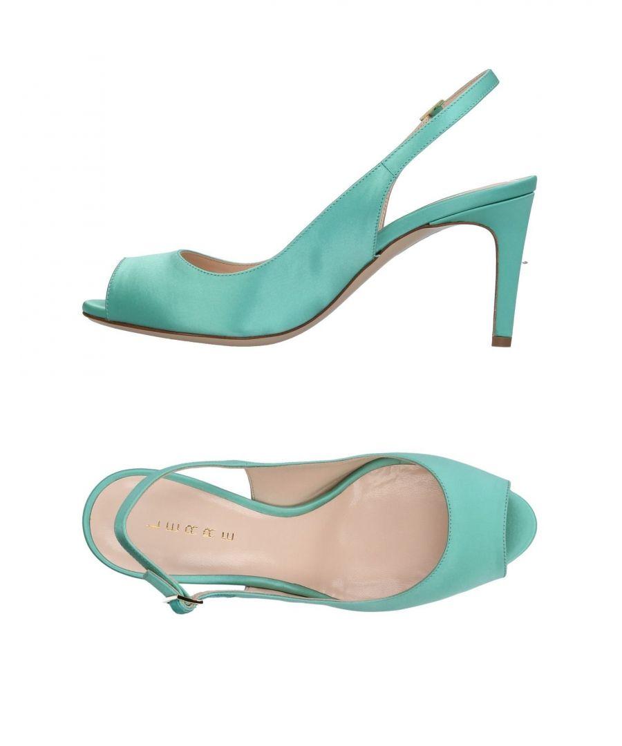 Image for Lerre Light Green Satin Slingback Heels