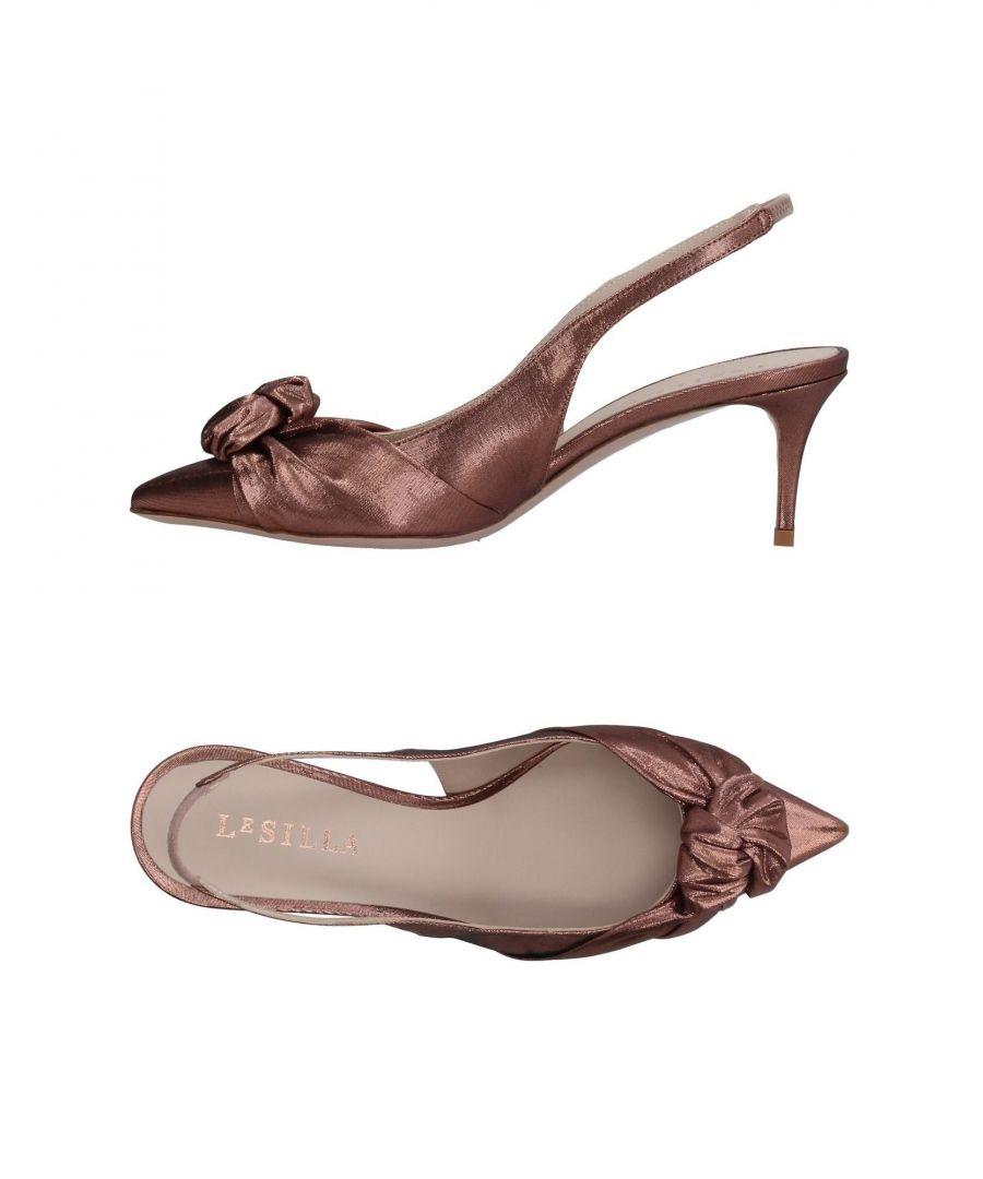 Image for Le Silla Copper Lame Slingback Heels