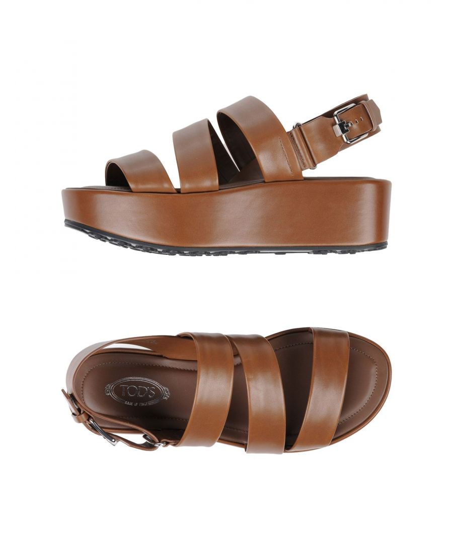 Image for Tod's Brown Leather Sandals