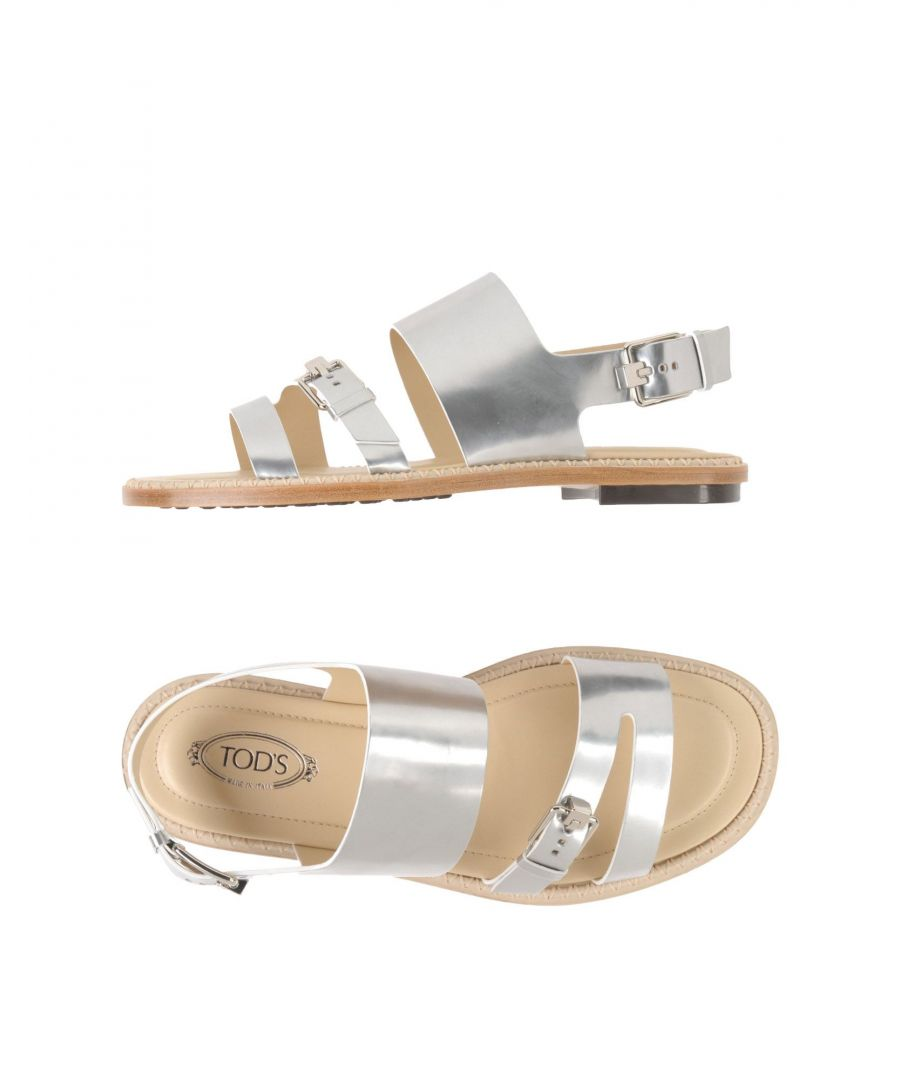 Image for Tod's Silver Leather Sandals