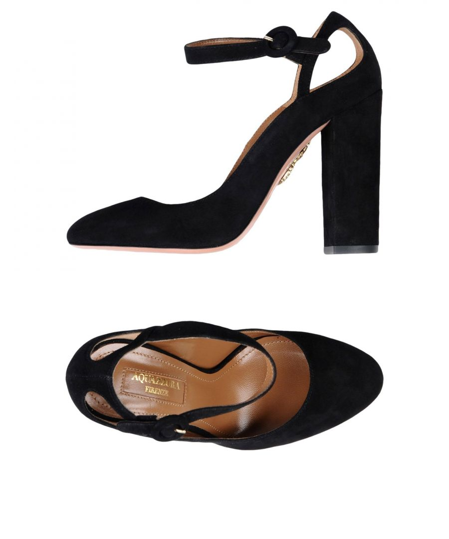 Image for Aquazzura Black Leather Heels