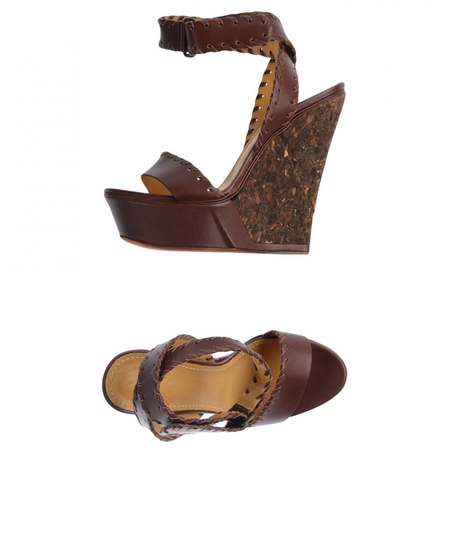 Image for Lanvin Cocoa Leather Wedges