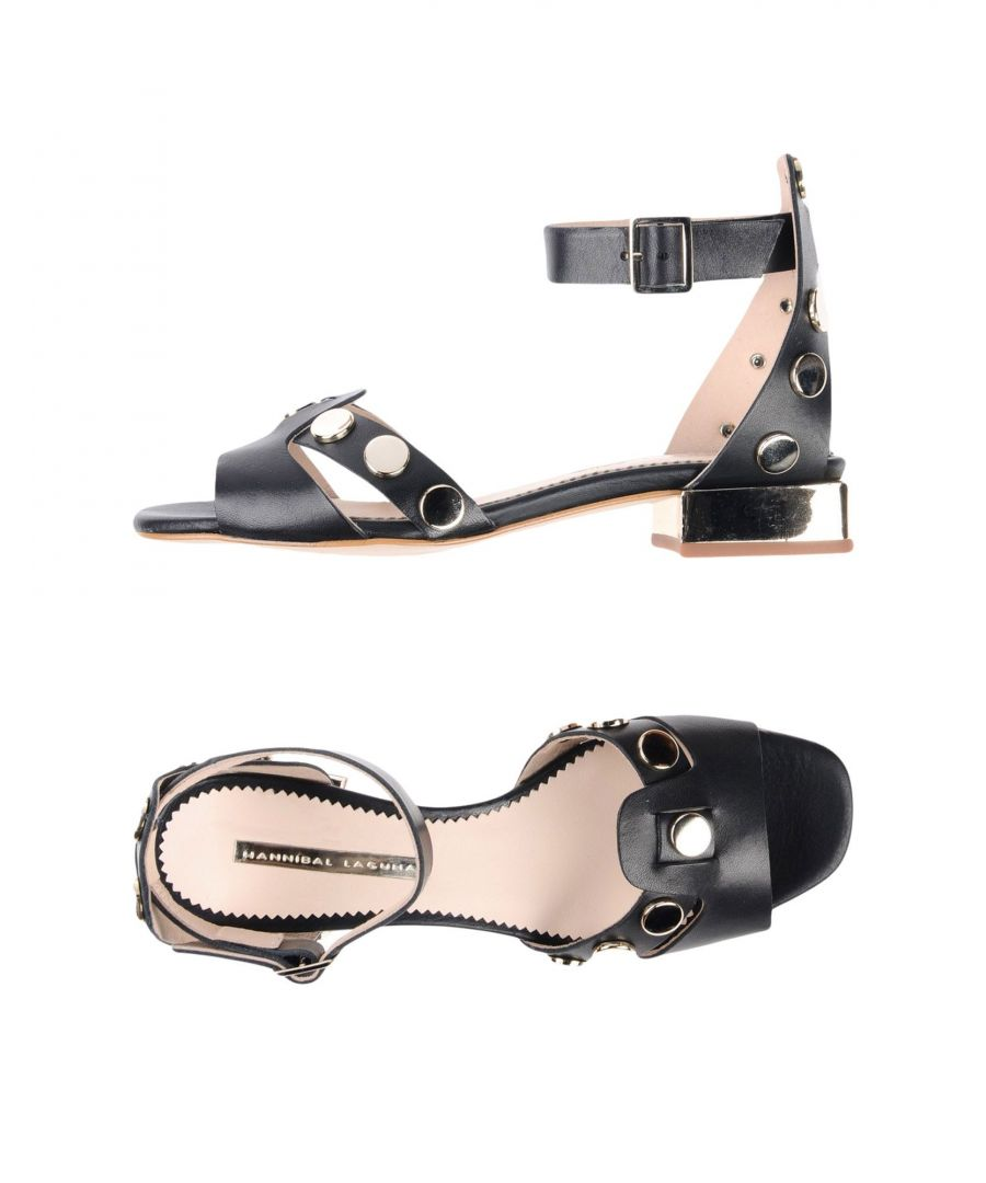 Image for Hannibal Laguna Black Leather Sandals