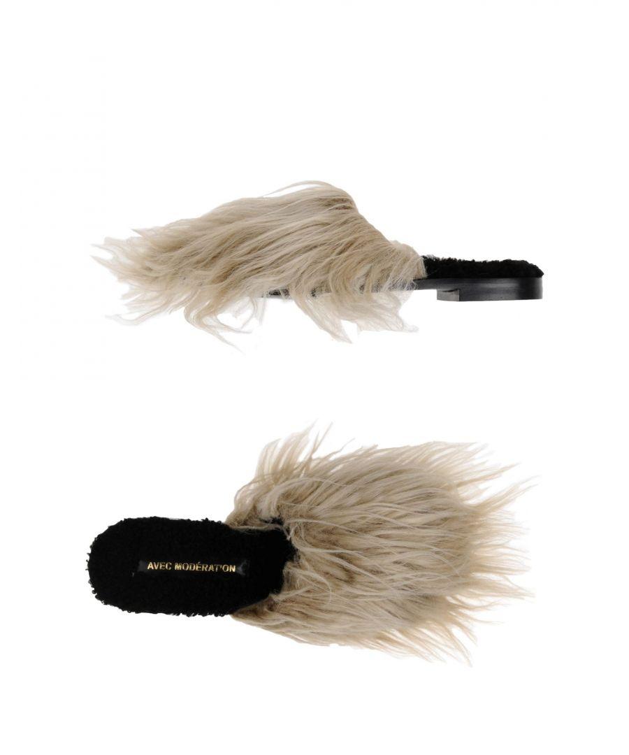 Image for Avec Modération Light Grey Faux Fur Mules