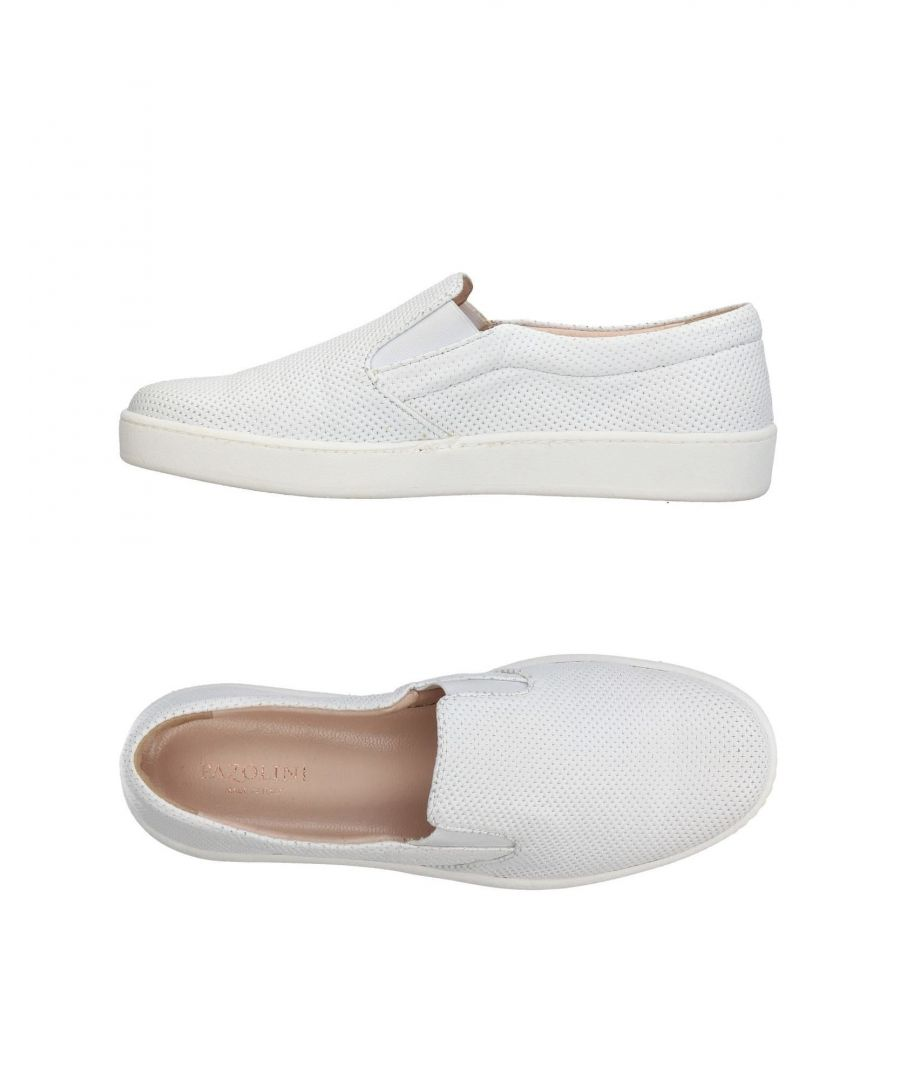 Image for Carlo Pazolini White Leather Slip Ons