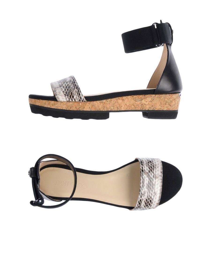 Image for Jimmy Choo Woman Sandals Black Pelle di elaphe