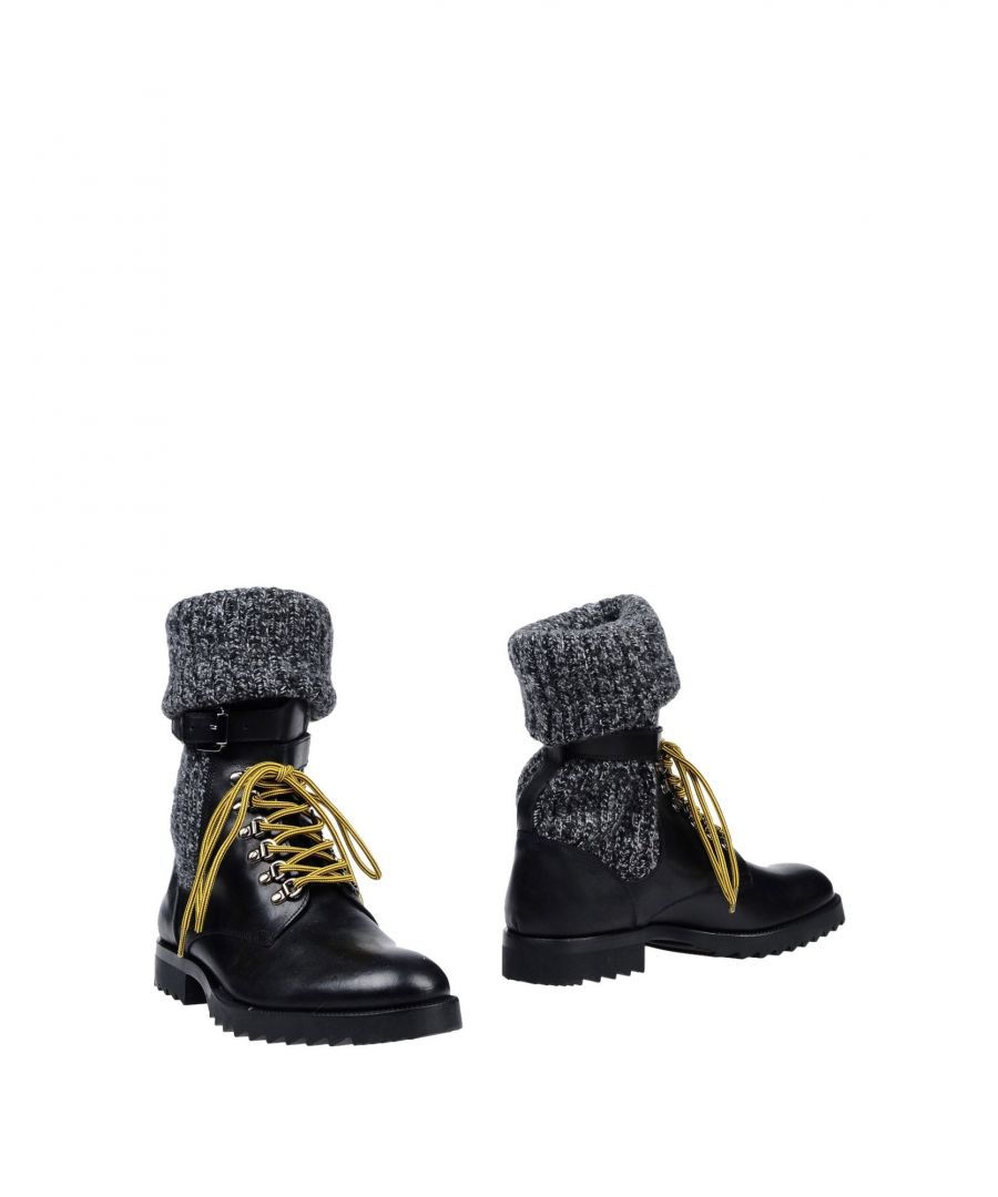Image for Sergio Rossi Black Leather Lace Up Boots