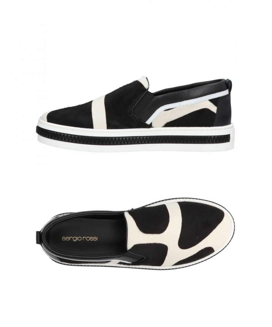 Image for Sergio Rossi Ivory Leather Slip Ons