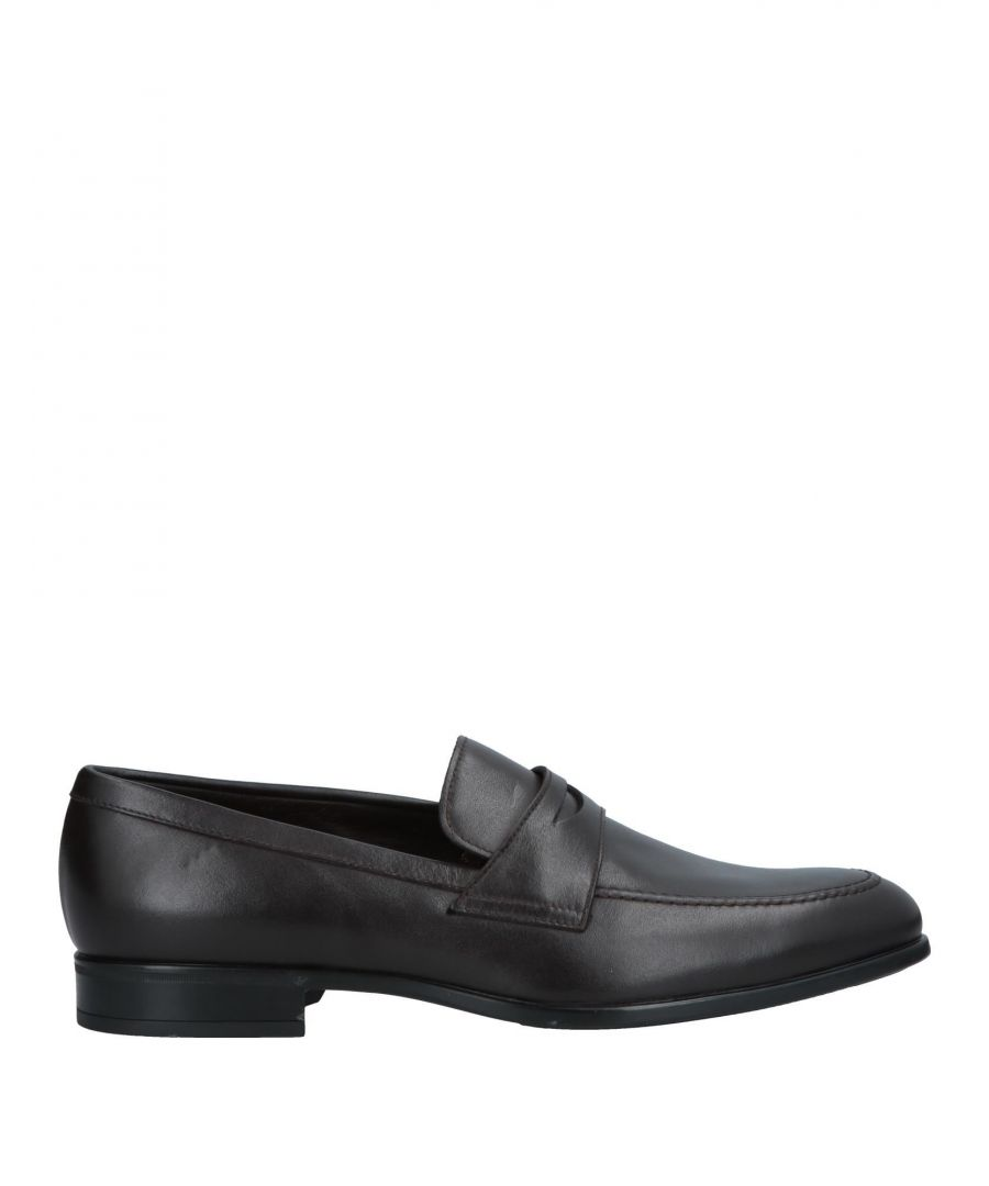 Image for Doucal's Dark Brown Calf Leather Loafers