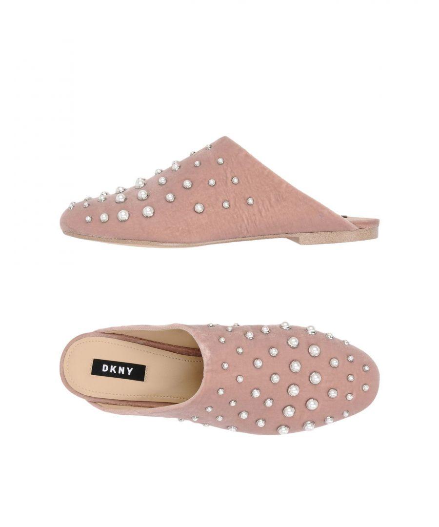 Image for DKNY Pastel Pink Velvet Mules