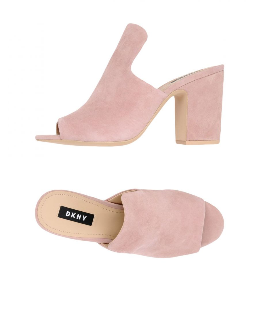 Image for DKNY Pastel Pink Leather Heeled Mules