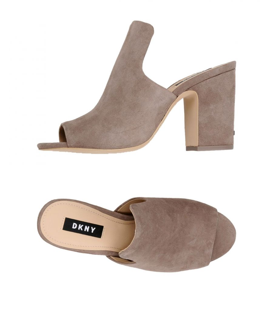 Image for DKNY Dove Grey Leather Heeled Mules