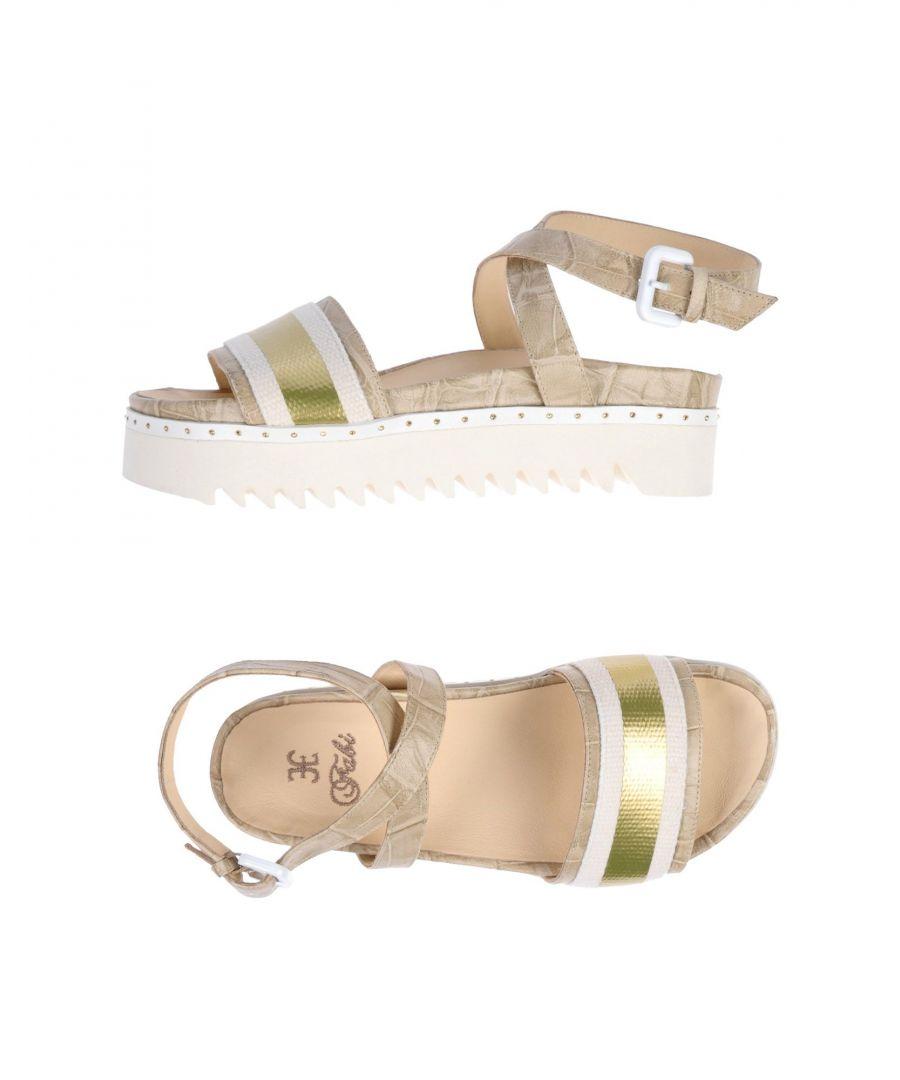 Image for Fabi Platinum Leather Sandals