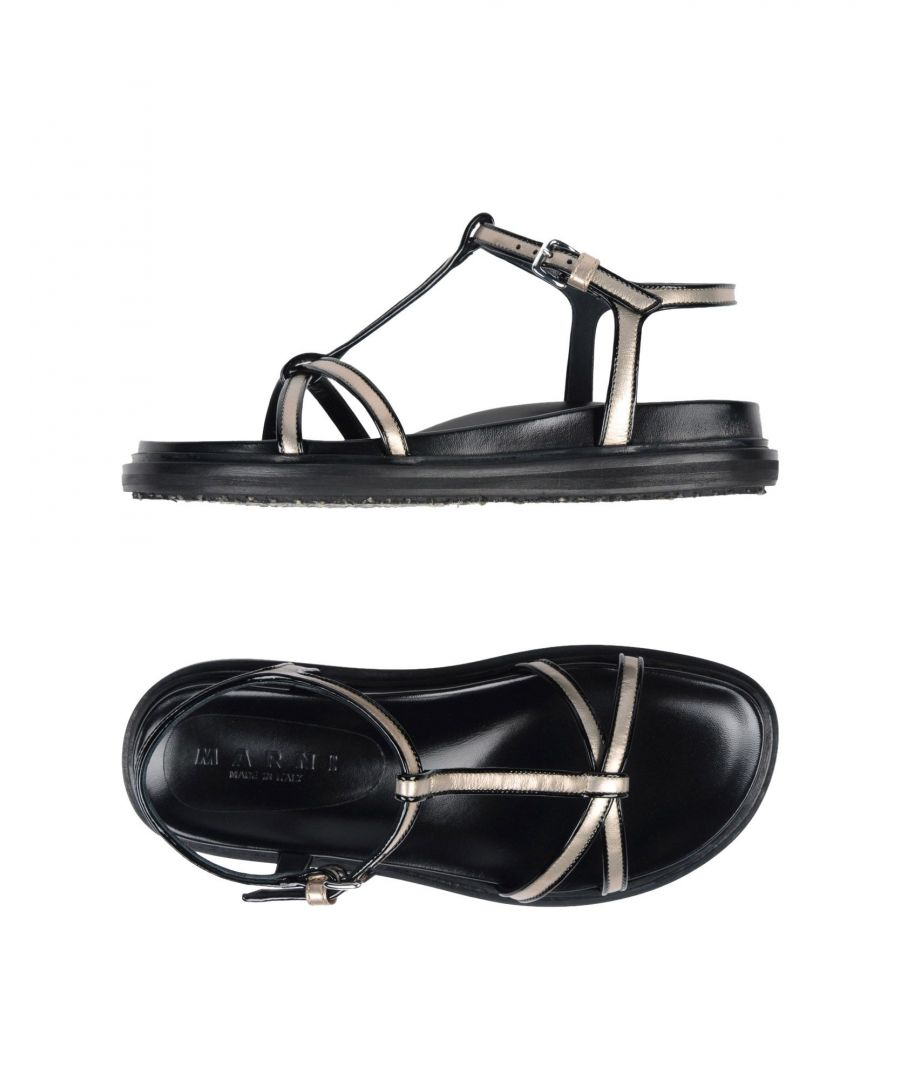 Image for Marni Platinum Leather Sandals