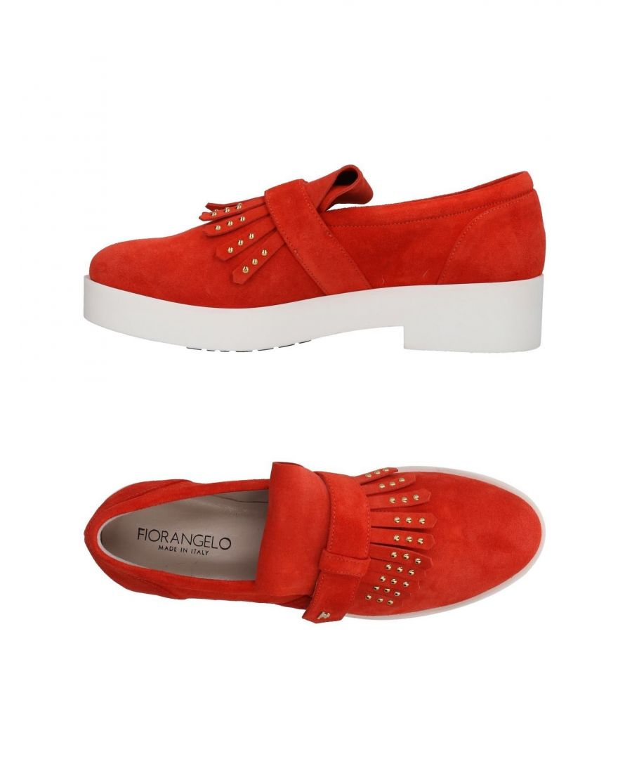 Image for Fiorangelo Red Leather Loafers