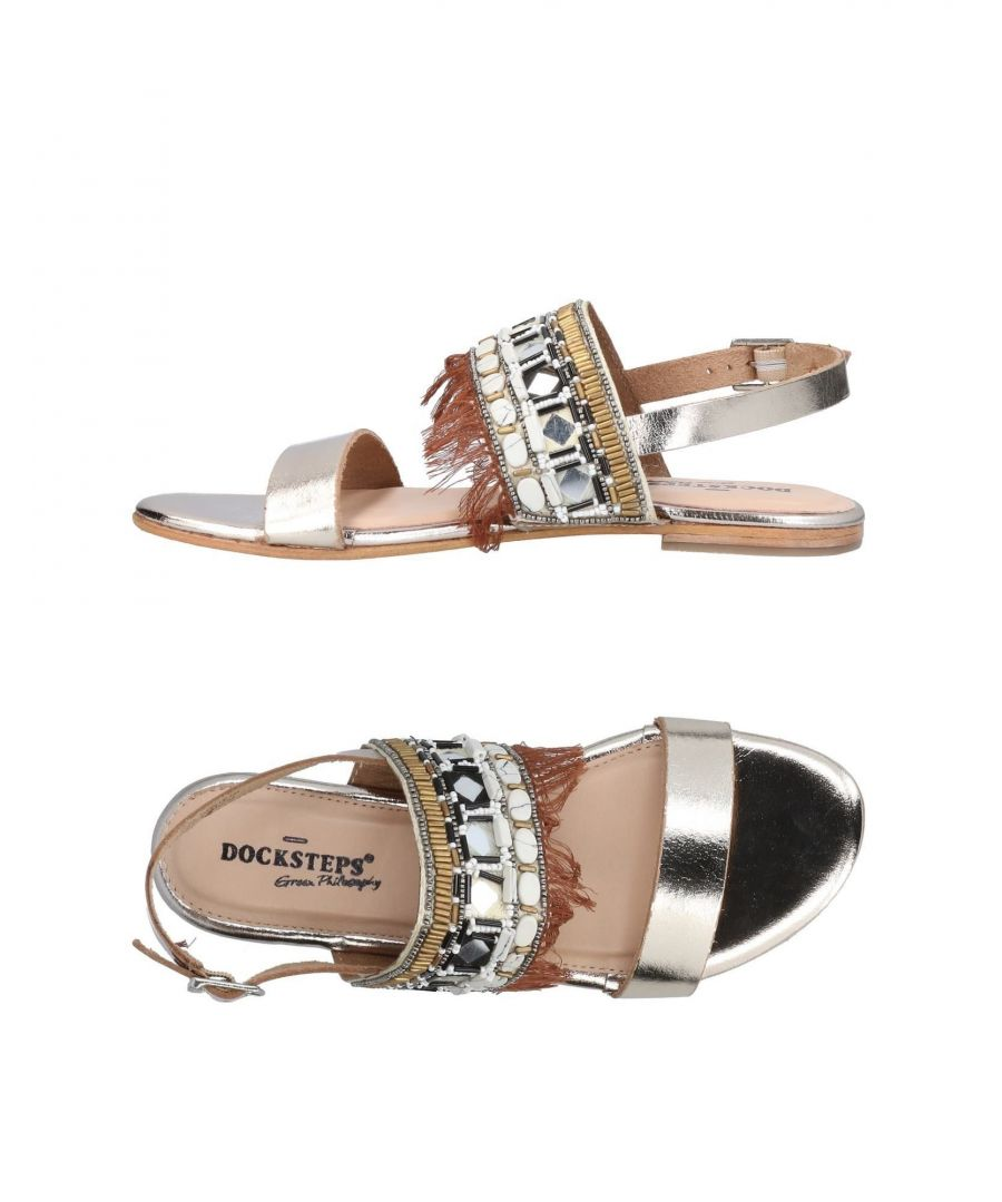 Image for Docksteps Platinum Leather Sandals