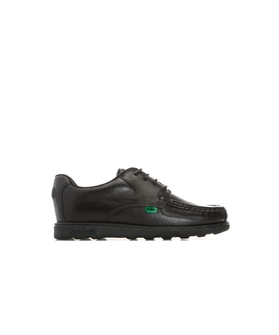 Image for Boy's Kickers Children Fragma Lace Shoe in Black