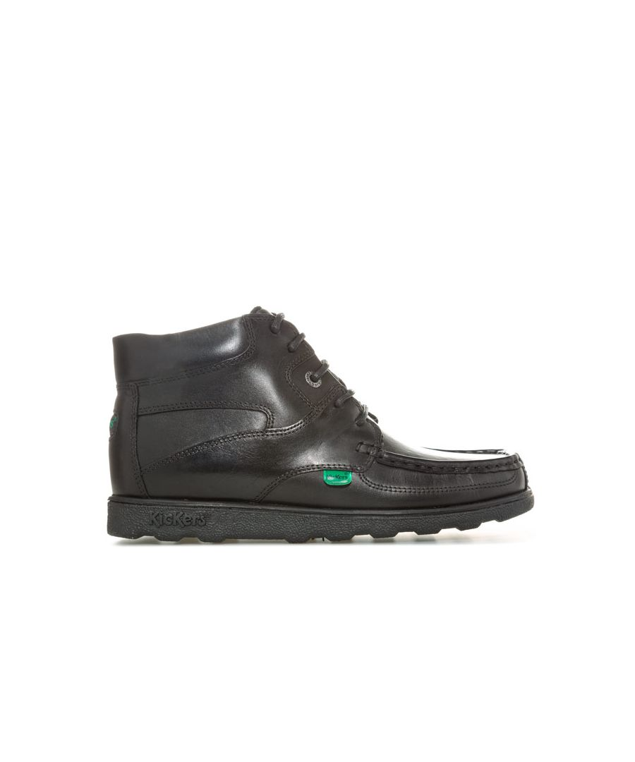 Image for Boy's Kickers Junior Fragma Lace Boot in Black