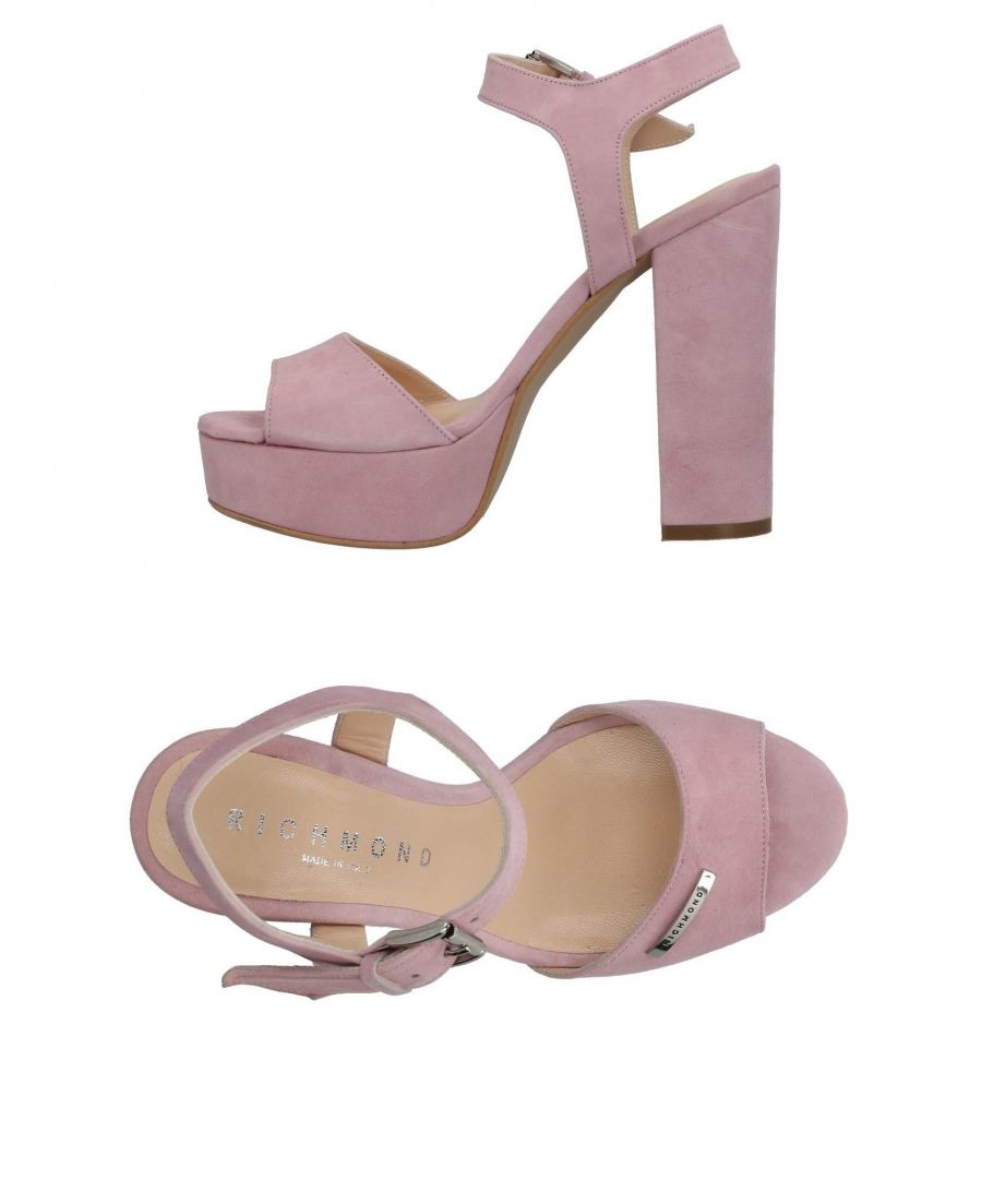 Image for Richmond Pink Leather Heeled Sandals
