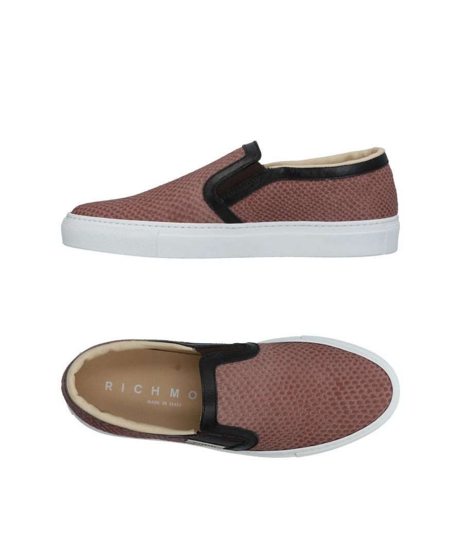 Image for Richmond Beige Leather Slip Ons