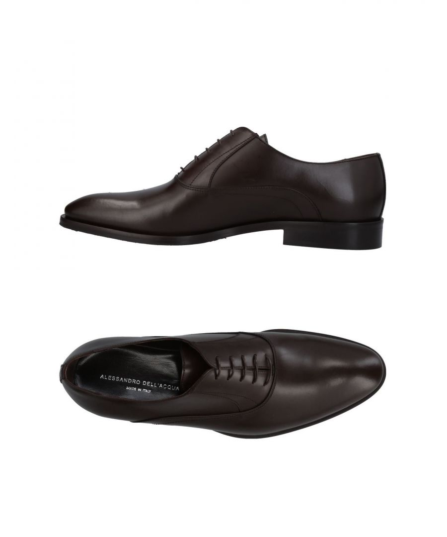 Image for Alessandro Dell'Acqua Dark Brown Calf Leather Lace Up Shoes