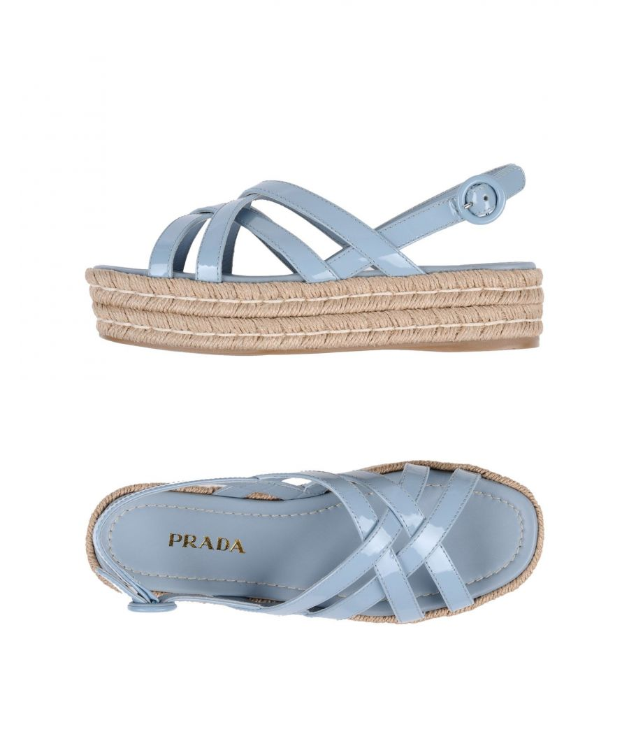 Image for Prada Sky Blue Leather Espadrille Sandals