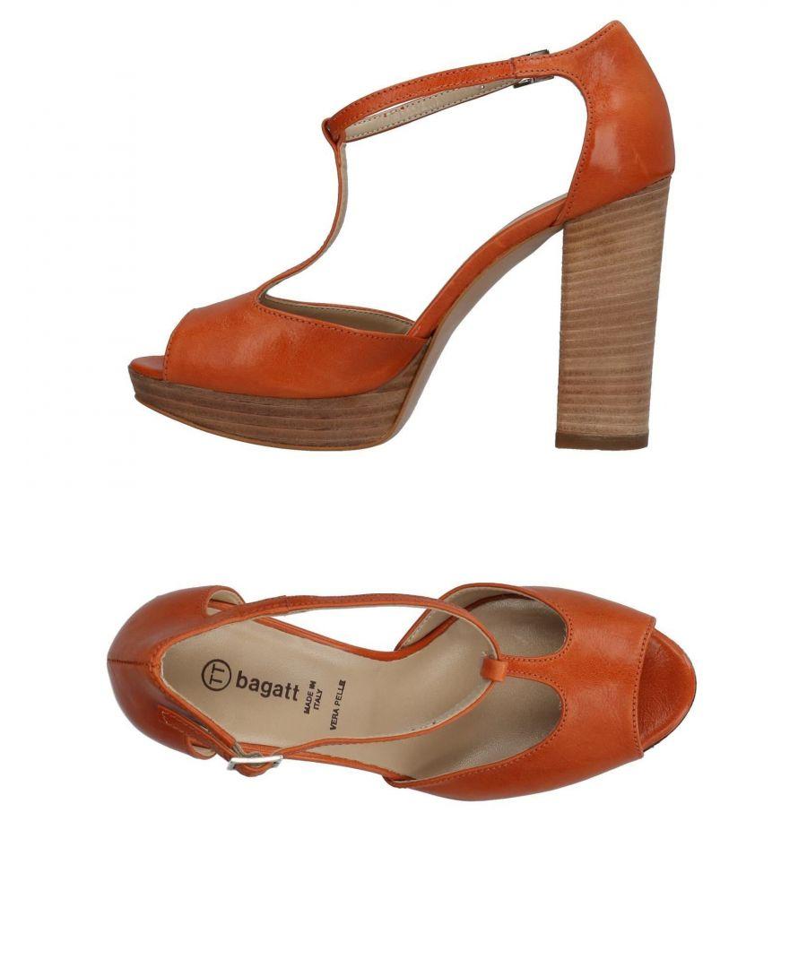 Image for Bagatt Orange Leather Mary Jane Heels