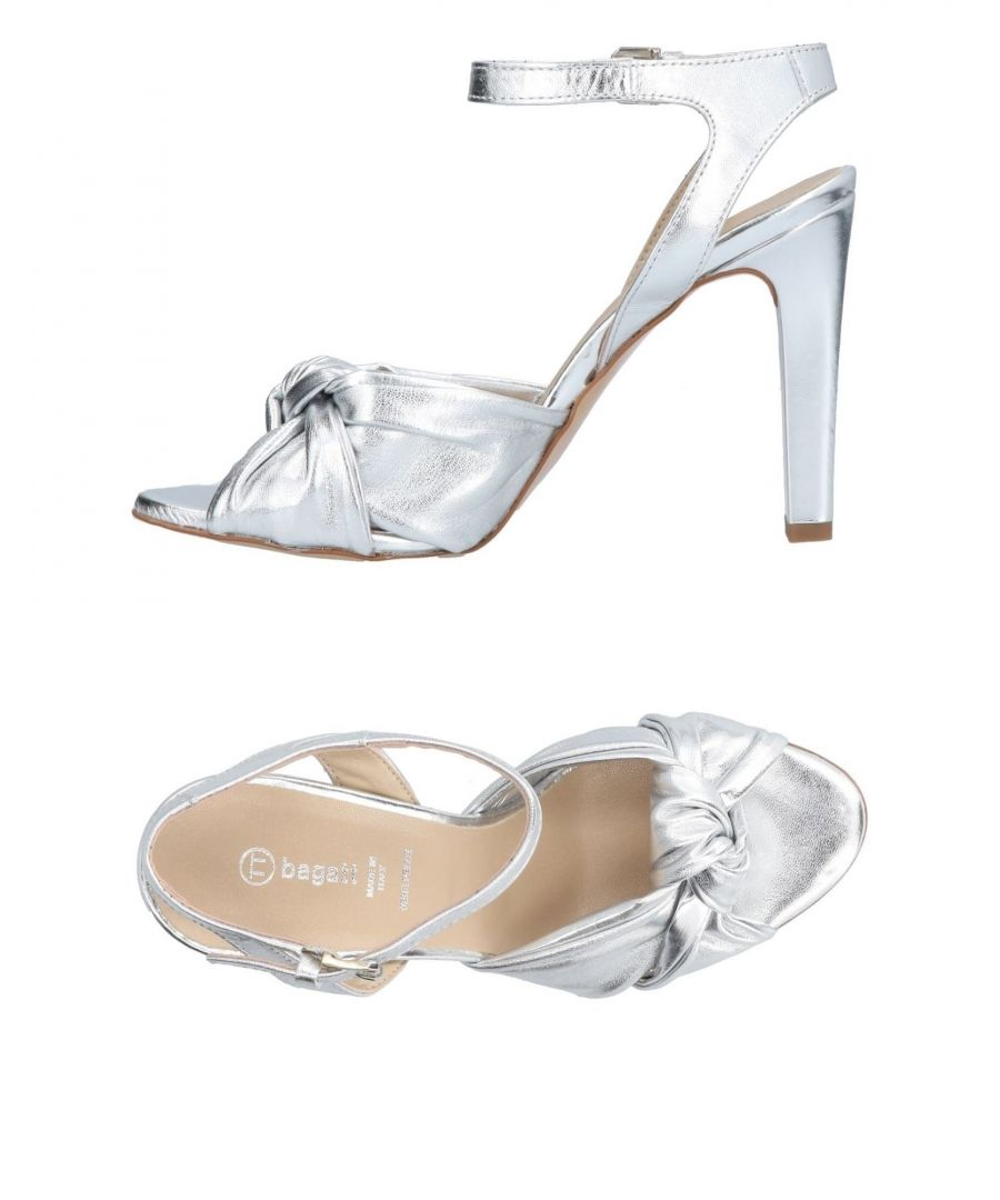 Image for Bagatt Silver Leather Heels
