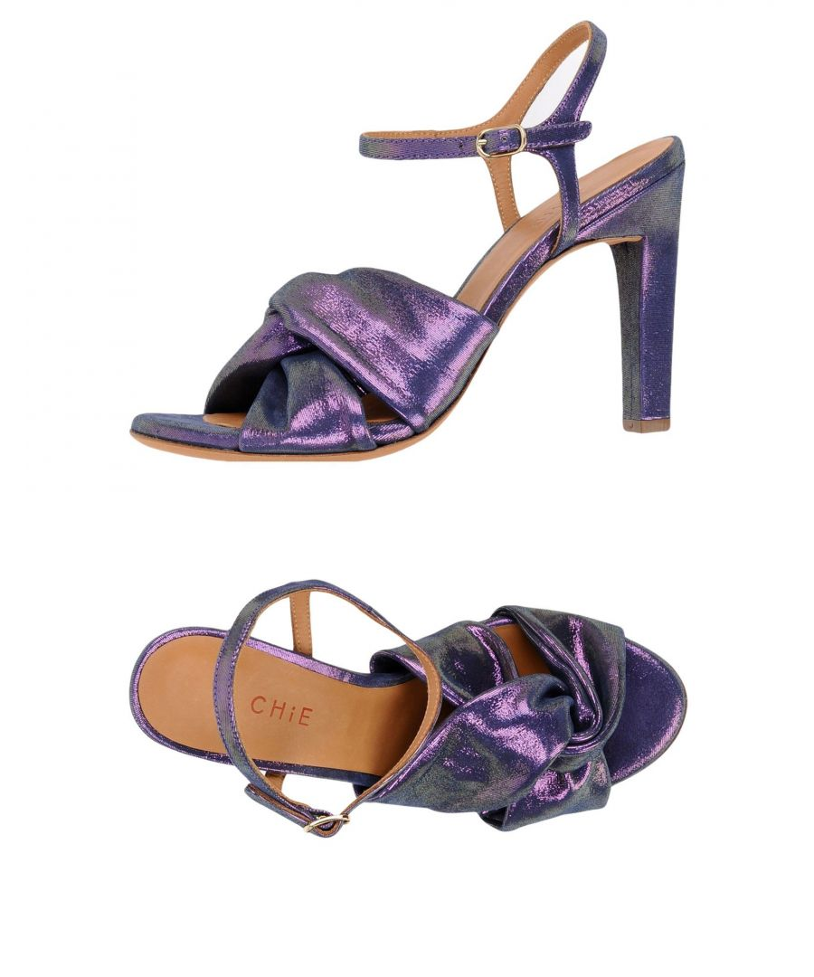 Image for Chie By Chie Mihara Purple Leather Heeled Sandals