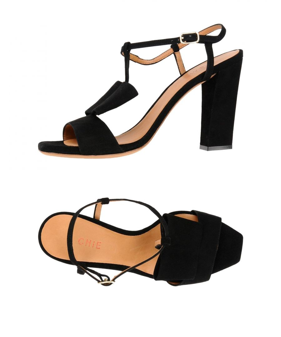 Image for Chie By Chie Mihara Black Leather Heeled Sandals