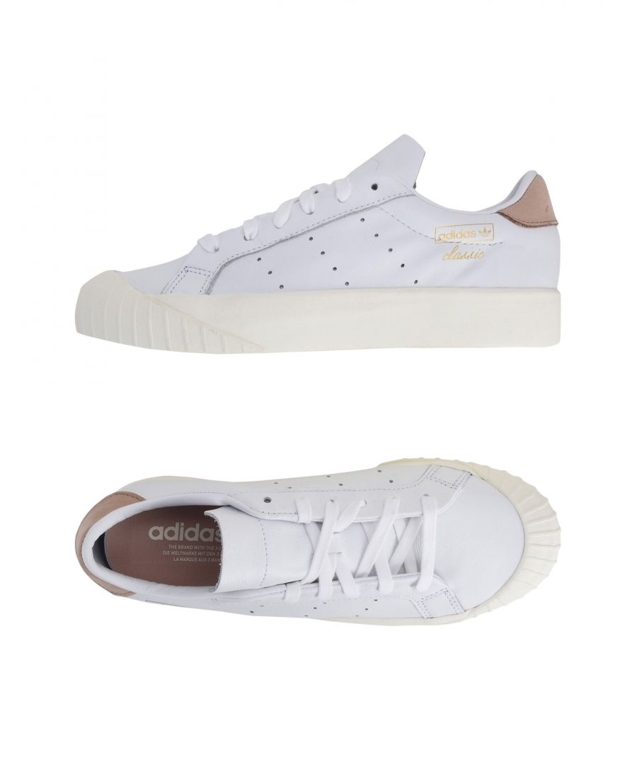 Image for Adidas Originals White Leather Sneakers