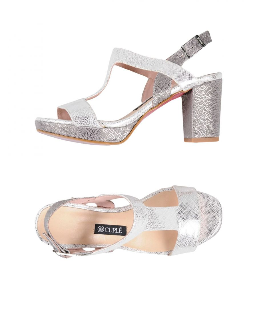 Image for Cuple Silver Heeled Sandals