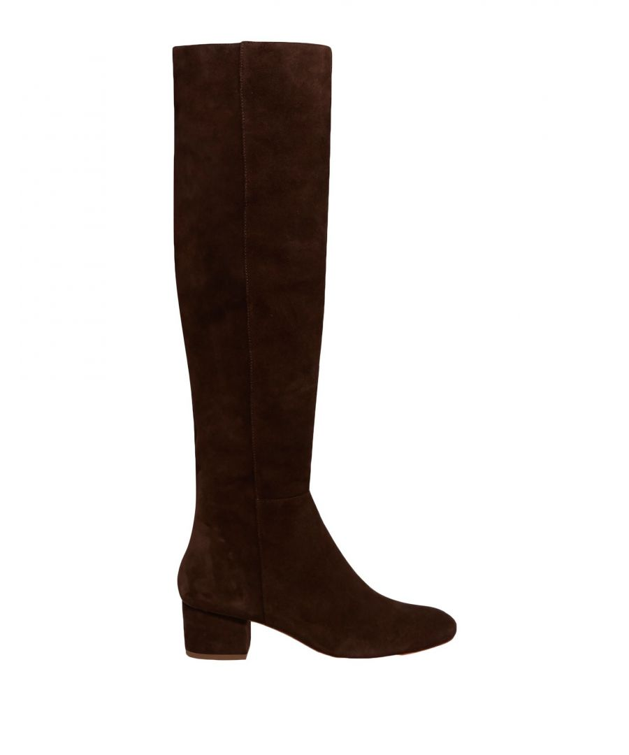 Image for Halston Dark Brown Leather Boots
