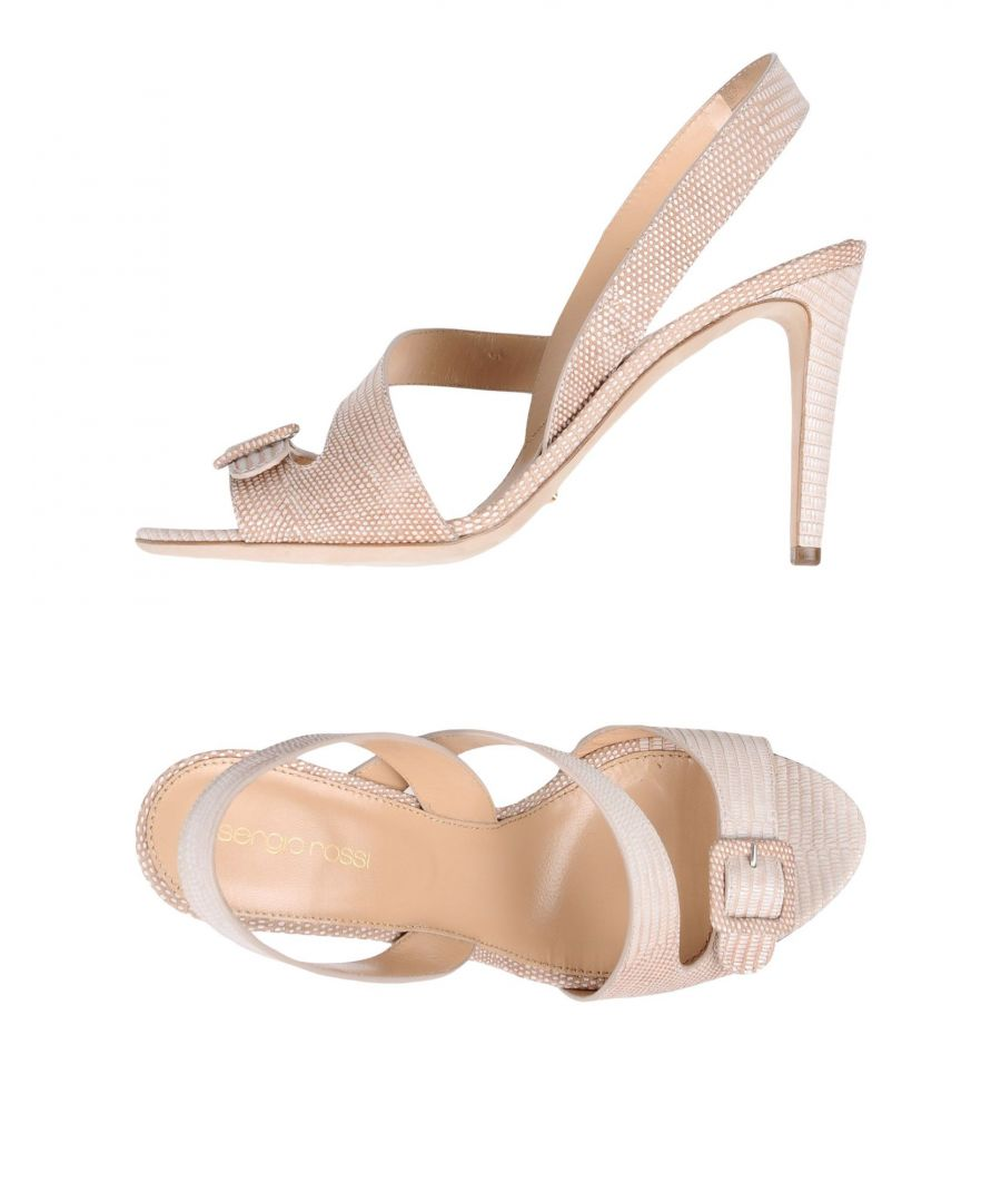 Image for Sergio Rossi Ivory Patent Leather Heeled Sandals